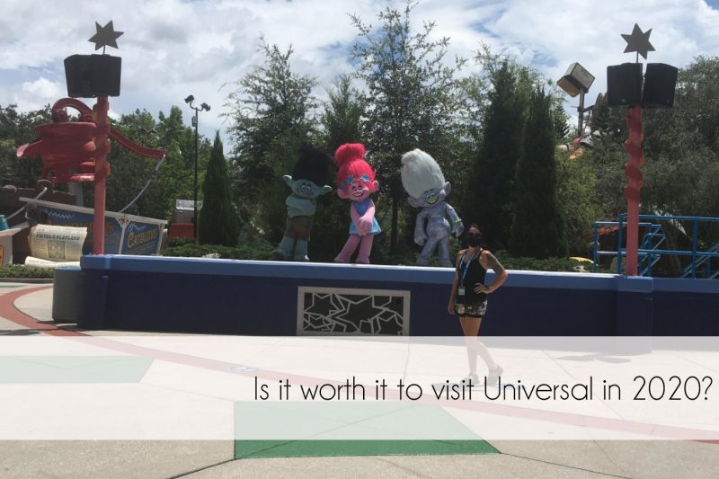 visiting Universal in 2020