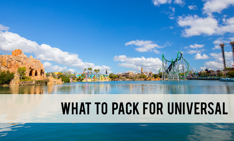 what to pack for Universal