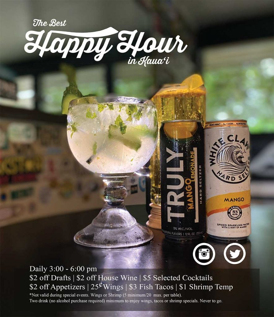 happy hours in Kauai