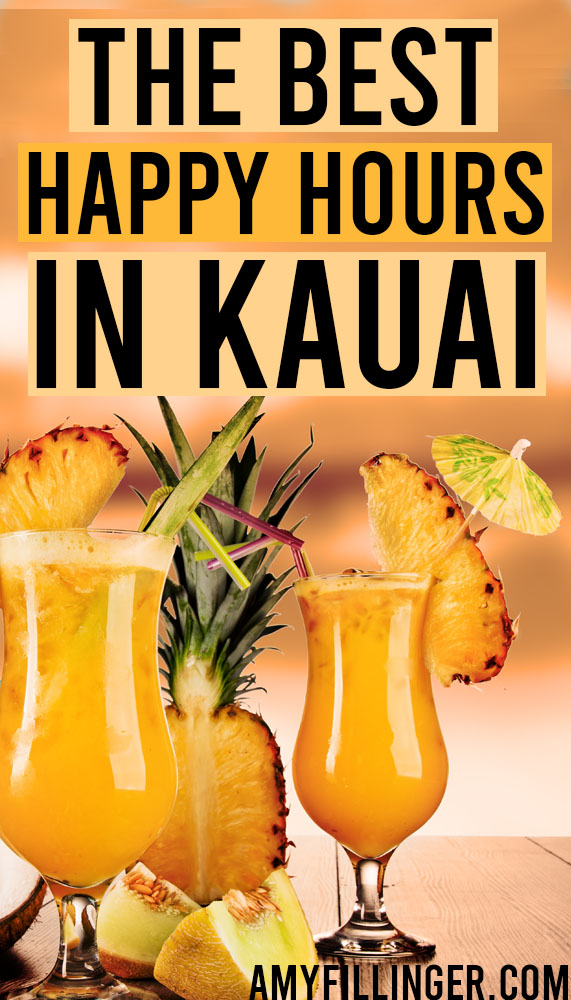best happy hours in Kauai