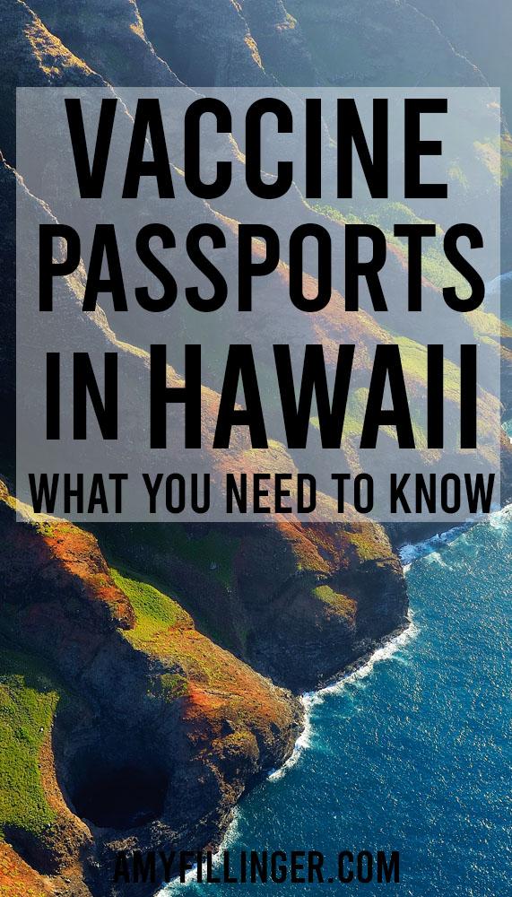 vaccine passports in Hawaii